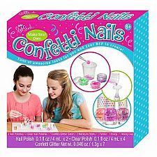 Make Your Own Confetti Nail Polish