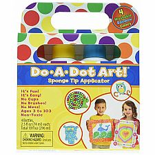Dot-Art Markers 4-Pk Rainbow [Washable]