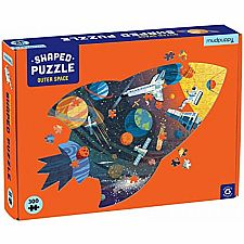 Outer Space Scene, Shaped 300 pc Puzzle