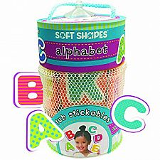 Soft Shapes Tub Stickables: Alphabet